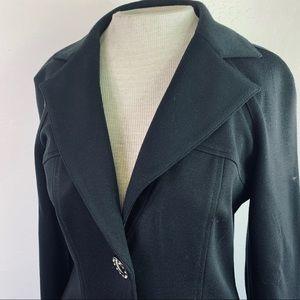 Alberto Makali Jackets & Coats - Alberto Makali Black Fitted Jacket
